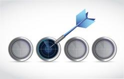 Χτύπημα του σωστού στόχου. απεικόνιση απεικόνιση αποθεμάτων