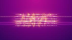 Χτύπημα των μουσικών συχνοτήτων με δύο σημειώσεις διανυσματική απεικόνιση