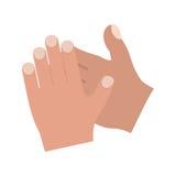 χτύπημα των χεριών διανυσματική απεικόνιση