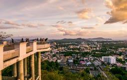 Χτύπησε το σημείο άποψης Hill Στοκ φωτογραφία με δικαίωμα ελεύθερης χρήσης