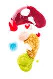 Χυμένες στιλβωτικές ουσίες καρφιών Στοκ Εικόνες