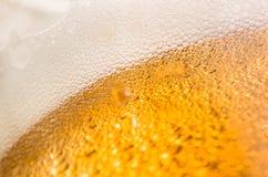Χυμένη κινηματογράφηση σε πρώτο πλάνο μπύρας Στοκ Εικόνα
