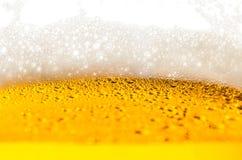 Χυμένη κινηματογράφηση σε πρώτο πλάνο μπύρας Στοκ εικόνα με δικαίωμα ελεύθερης χρήσης