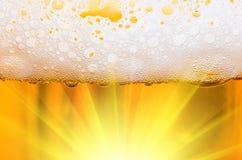 Χυμένη κινηματογράφηση σε πρώτο πλάνο μπύρας Στοκ Εικόνες