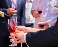 χυμένο γυαλί κρασί Στοκ εικόνα με δικαίωμα ελεύθερης χρήσης