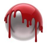 χυμένο σφαίρα κόκκινο Στοκ φωτογραφία με δικαίωμα ελεύθερης χρήσης