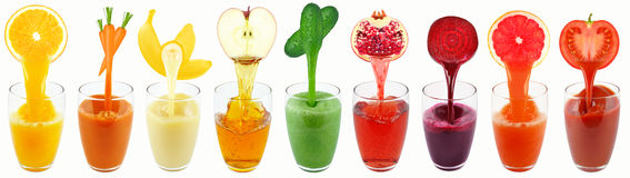 Χυμοί φρούτων Στοκ εικόνες με δικαίωμα ελεύθερης χρήσης