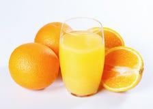 Χυμός από πορτοκάλι και πορτοκάλια Στοκ Φωτογραφία