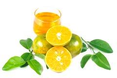 Χυμός από πορτοκάλι και φέτες στοκ φωτογραφία με δικαίωμα ελεύθερης χρήσης
