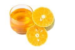 Χυμός από πορτοκάλι και φέτες στοκ εικόνες με δικαίωμα ελεύθερης χρήσης