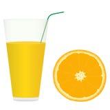 Χυμός από πορτοκάλι Διανυσματική απεικόνιση