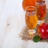Χυμός και μήλα της Apple Στοκ Εικόνα