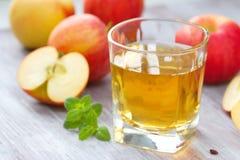 Χυμός και μήλα της Apple Στοκ φωτογραφία με δικαίωμα ελεύθερης χρήσης
