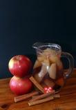 Χυμός κανέλας και μήλων Στοκ Εικόνα