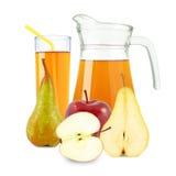 χυμός μήλων και αχλαδιών Στοκ εικόνα με δικαίωμα ελεύθερης χρήσης