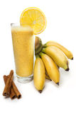 Χυμός μπανανών με το πορτοκάλι Στοκ Εικόνα