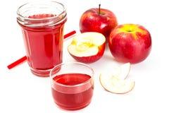 Χυμός της Apple από τα φρέσκα ώριμα μήλα Στοκ εικόνα με δικαίωμα ελεύθερης χρήσης
