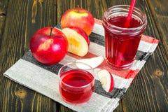 Χυμός της Apple από τα φρέσκα ώριμα μήλα Στοκ φωτογραφίες με δικαίωμα ελεύθερης χρήσης