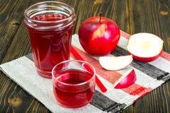 Χυμός της Apple από τα φρέσκα ώριμα μήλα Στοκ εικόνες με δικαίωμα ελεύθερης χρήσης