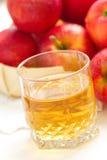 Χυμός της Apple και κόκκινα μήλα Στοκ φωτογραφία με δικαίωμα ελεύθερης χρήσης