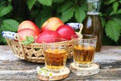 Χυμός της Apple και κόκκινα μήλα Στοκ εικόνα με δικαίωμα ελεύθερης χρήσης
