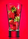 Χυμός φραουλών εννοιολογικός Στοκ εικόνα με δικαίωμα ελεύθερης χρήσης