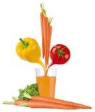 Χυμός φρούτων και φυτικός χυμός στο γυαλί Στοκ Φωτογραφία