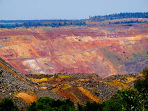 χυτή ανοικτή πανοραμική φωτογραφία ορυχείων Στοκ φωτογραφία με δικαίωμα ελεύθερης χρήσης