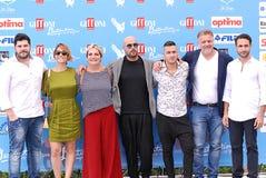 Χυτή τηλεοπτική σειρά Gomorra στο φεστιβάλ 2016 ταινιών Giffoni στοκ φωτογραφίες