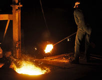 χυτός σίδηρος εργοστασί& Στοκ Εικόνα
