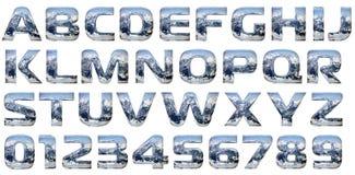 χυτό αλφάβητο σύνολο χρωμί& Στοκ Εικόνα
