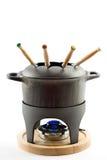 χυτό fondue σύνολο σιδήρου στοκ φωτογραφία με δικαίωμα ελεύθερης χρήσης