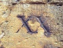 ΧΧ ρωμαϊκός αριθμός 20 Στοκ Φωτογραφία