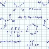 Χωρίς ραφή διανυσματικός pettern - χημεία Στοκ φωτογραφία με δικαίωμα ελεύθερης χρήσης