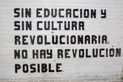 Χωρίς την εκπαίδευση και πολιτισμό, καμία επανάσταση δεν είναι δυνατή Στοκ εικόνα με δικαίωμα ελεύθερης χρήσης