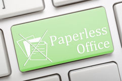 Χωρίς χαρτί γραφείο Στοκ εικόνες με δικαίωμα ελεύθερης χρήσης