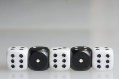 χωρίστε σε τετράγωνα παιχνίδι κύβων Στοκ Φωτογραφίες