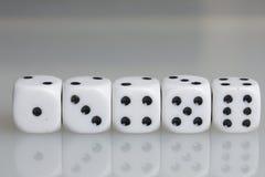 χωρίστε σε τετράγωνα παιχνίδι κύβων Στοκ Εικόνες
