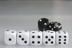 χωρίστε σε τετράγωνα παιχνίδι κύβων Στοκ εικόνα με δικαίωμα ελεύθερης χρήσης