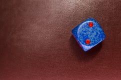 χωρίστε σε τετράγωνα σε ένα κόκκινο δέρμα Στοκ εικόνα με δικαίωμα ελεύθερης χρήσης
