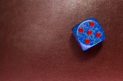 χωρίστε σε τετράγωνα σε ένα κόκκινο δέρμα Στοκ φωτογραφία με δικαίωμα ελεύθερης χρήσης