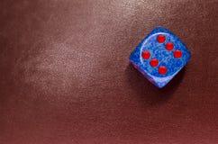 Χωρίστε σε τετράγωνα στο κόκκινο δέρμα Στοκ φωτογραφίες με δικαίωμα ελεύθερης χρήσης