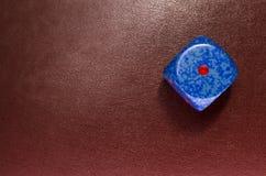 Χωρίστε σε τετράγωνα στο κόκκινο δέρμα Στοκ εικόνα με δικαίωμα ελεύθερης χρήσης