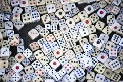 χωρίστε σε τετράγωνα την έννοια για τον επιχειρησιακό κίνδυνο, την πιθανότητα, την καλό τύχη ή το παιχνίδι Στοκ Φωτογραφίες