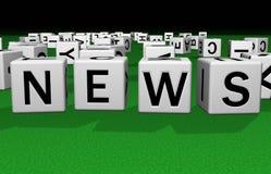 χωρίστε σε τετράγωνα τις ειδήσεις Ελεύθερη απεικόνιση δικαιώματος