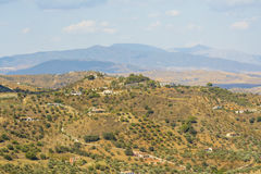 Χωριά στην επαρχία της Μάλαγας, Ανδαλουσία, Ισπανία Στοκ φωτογραφία με δικαίωμα ελεύθερης χρήσης