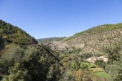 Χωριά Berber στα βουνά ατλάντων του Μαρόκου Στοκ Εικόνα