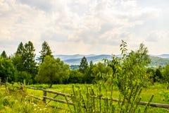 Χωριά Carpathians Στοκ Εικόνες