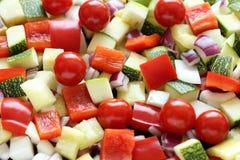 Χωρισμένα σε τετράγωνα λαχανικά Στοκ φωτογραφία με δικαίωμα ελεύθερης χρήσης