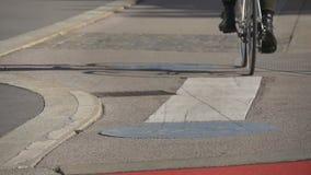 Χωρισμένη πάροδος ποδηλάτων στην ευρωπαϊκή οδό φιλμ μικρού μήκους